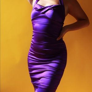 *BEBE* Vintage Bodycon Halter Dress